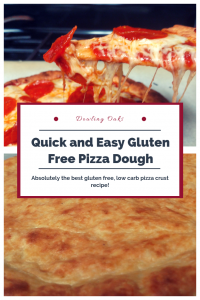 Easy low carb gluten free pizza dough recipe