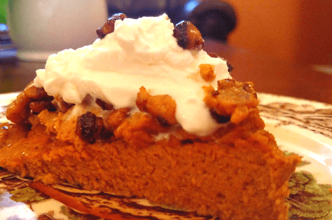 healthy gluten free no crust pumpkin pie recipe