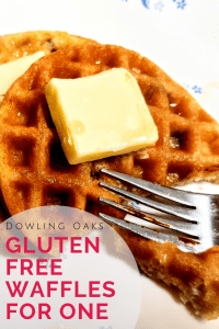 Gluten free and low carb waffle with butter and lakanto syrup